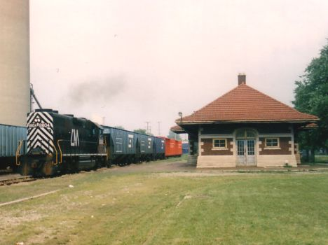 CMGN St. John Depot with train